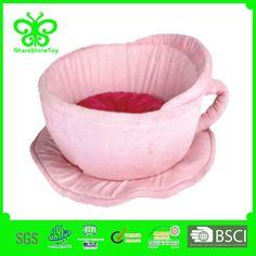 new design pet beds/cute pink cup shaped pet beds