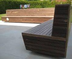 Afbeeldingsresultaat voor houten tuinbank