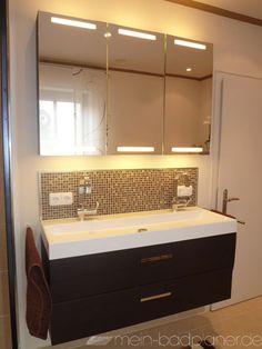 Doppel-Waschbecken mit Beleuchtung