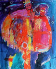 Bold Acrylic Painting Colorful Abstract by kerriblackmanfineart, $170.00