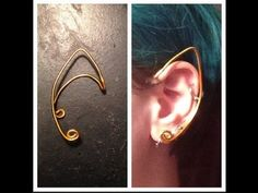 A simple wire frame ear cuff. Perfect for an elf or fairy. Follow me on Instagram @alyscalii  ...  Follow me on Twitter @AlyNymphScali  ...  Materials: -wire -needle-nose pliers -wire cutters. Diy, Simple, Wire,