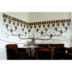 Family Tree idea- I love this idea! If I had a (large) family, I would do this.It would be neat to do this with my church family. {g.}