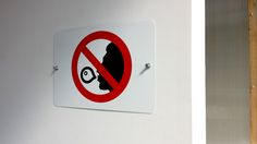 'No chewing gum' - metal sign #lichtworksprinting #atlantamade #graphicdesign