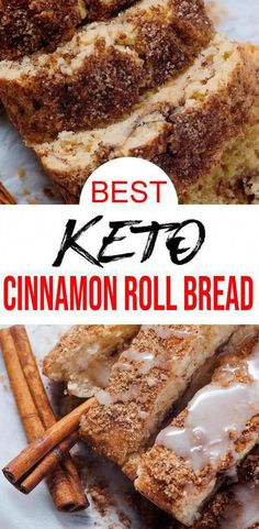 Low Carb Cinnamon Roll Loaf Bread Idea – Quick & Easy Ketogenic Diet Recipe – Completely Keto Friendly – Gluten Free – Sugar Free - The Best Vegan Recipes Low Carb Sweets, Low Carb Desserts, Diabetic Dessert Recipes, Easy Keto Dessert, Easy Gluten Free Desserts, Almond Milk Desserts, Diabetic Desserts Sugar Free Low Carb, Gluten Free Baking Recipes, Simple Dessert Recipes