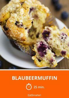 Blaubeermuffin - smarter - Zeit: 25 Min. | eatsmarter.de