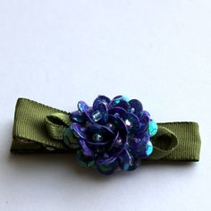 Sequined Hair Clip by OmaDesigns on Etsy