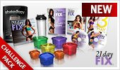You save over $70 with this pack compared to buying each item separately. Lose up to 15 pounds in 21 days! With21 day fix, simple fitness and simple eating mean fast results. Easy-to-follow portion control and 30-minute workouts take the guesswork out of losing weight. Your Challenge Pack also includes: Your first 30-day supply of.