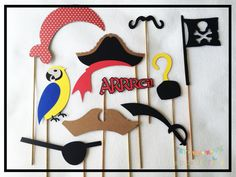 Pirate Photo Booth Props, Pirate Photo Props, Pirate Birthday Party Supplies, Pirate Party Supplies, Pirate Party Decorations, Photo Props