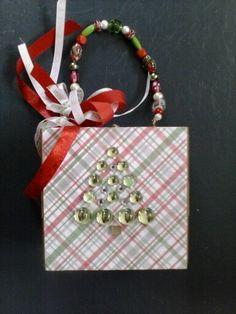 Christmas tree cigar box purse. 2013 by Cyndi Greer