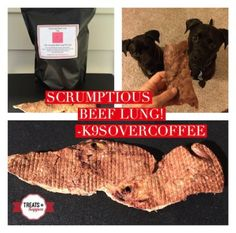 K9sOverCoffee | Srumptious Beef Lung from Treats Happen