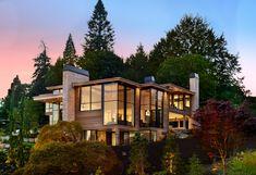 Lake Oswego, Portland, Oregon (USA) — Architect: Barclay Home Design Dealer: Portland Millwork Photographer: Blackstone Edge Studios Outside Living, Outdoor Living, Tilt And Turn Windows, Oregon Usa, Portland Oregon, Aluminium Windows And Doors, British Home, Lake Oswego, Million Dollar Homes