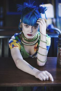 Polychromatic Punk Editorials - Alex Hutchinson Captures This Exotic Grunge-Inspired Series (GALLERY)