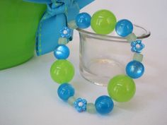 Little Girl Jewelry Childs Bracelet Blue by AllAboutMaddie on Etsy, $4.00