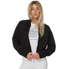 Cheap Monday Ash Sweat Womens Bomber Jacket Black
