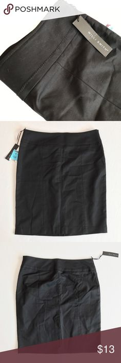 Willi Smith NWT black business pencil skirt Willi Smith black pencil skirt NWT. Simple and elegant with just enough stretch to get you through the work day. A must have staple for any wardrobe. 97% cotton 3% spandex. No trades, offers always welcome. Willi Smith Skirts