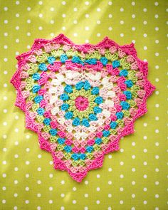 Granny heart 2.0 - Added a picot edge for that little something extra!