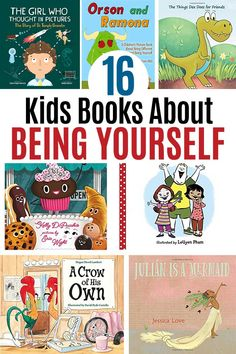 Books about being yourself for kids! Inspire self acceptance with these awesome picture books. Perfect for preschoolers and early elementary kids, these books about acceptance and being yourself are inspiring reads for kids and families. Best Children Books, Toddler Books, Childrens Books, Preschool Books, Toddler Preschool, Book Activities, Sequencing Activities, Thinking In Pictures, Library Books