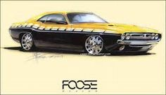 Gallery For > Chip Foose Muscle Car Art