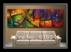 Free shipping Wholesale Retail High Quality Handicraft Modern Abstract Large Art Wall Decor Canvas Oil Painting Still Life 30098