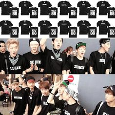 KPOP EXO WOLF 88 XOXO Member T-SHIRT please please please can I have this