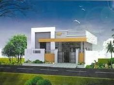 Hasil gambar untuk elevations of independent houses House Layout Plans, Duplex House Plans, New House Plans, House Layouts, Single Floor House Design, House Front Design, Building Elevation, House Elevation, Exterior House Colors