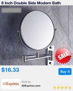 8 Inch Double Side Modern Bath Mirrors Shave Makeup Extend Arm 3x Magnifying Espelho Do Banheiro Bathroom Sanitary Accessories * Pub Date: 21:18 Apr 15 2017