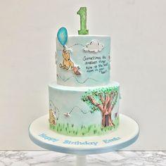 Winnie the Pooh hand painted birthday cake
