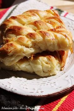 Recepti s potpisom. Albanian Recipes, Croatian Recipes, Savory Pastry, Savoury Baking, Baking Recipes, Cookie Recipes, Dessert Recipes, Kiflice Recipe, Macedonian Food