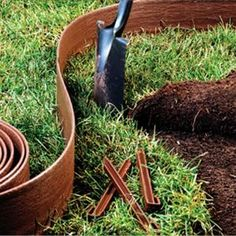 Master Mark Terrace Board 5 In. X 40 Ft. Brown Landscape Lawn Edging With  Stakes | Home, Gray And Landscapes