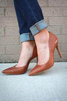 Claudette Leather Heel in Copper