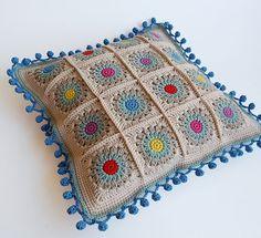 Rosie Posie Grannie Square pillow