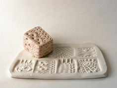 Cube Stamp, Abstract, Primitive, Six-In-One Texture Stamps, Tool for Slab Built Pottery, Ceramics, Polymer Clay