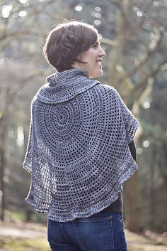 Ravelry: The Poetry of Logic pattern by Katherine Vaughan - a simple and beautiful circular shawl. Must make one! #knitindie