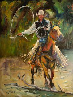 """Practicin' Ropin' Cowboy"" Diane Whitehead   $8000"