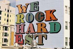 "Ben Eine ""We Rock Hardest"" New Mural San Francisco - StreetArtNews"