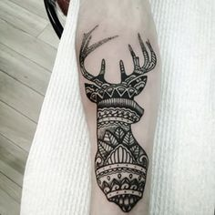 Or a deer mandala. | 49 Bloody Brilliant Black And Grey Tattoo Ideas