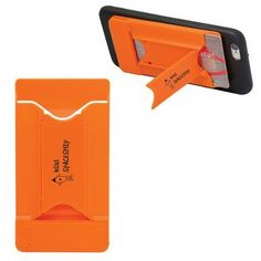 Lockdown CardHolder w/ Stand Screen Cleaner (Printed) Tradeshow, giveaway, branded promo