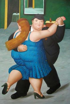 Fernando Botero Painting ~ The Dancers