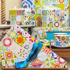 Nova coleção 50s Remix   A irreverência dos «fifties» e a tradição do azulejo à vossa mesa   A Loja do Gato Preto   #alojadogatopreto