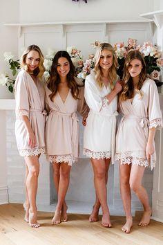 18b808340d Set of 6 Bridesmaid Robes    Robe    Bridal Robe    Bride Robe    Bridal  Party Robes    Bridesmaid Gifts    Satin Robe    Lauren