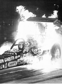 Big Daddy Don Garlits doing a fire burn-out