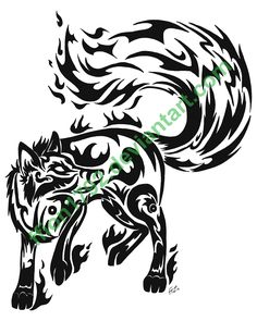 Google Image Result for http://www.deviantart.com/download/123888532/Tribal_Tattoo_I___Fire_Fox_by_ffion1792.png