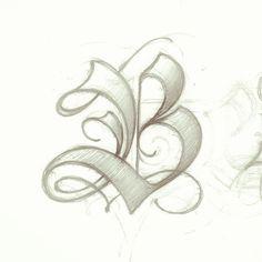 B #lettering #handlettering