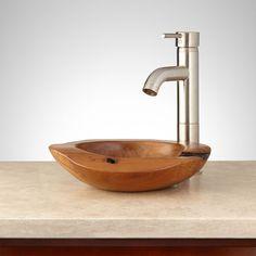 Istvan Teak Root Vessel Sink