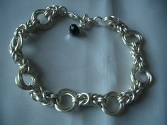 Byzantine Mobius link Chainmaille Silver plated Bracelet by ChiqueCornwall on Etsy