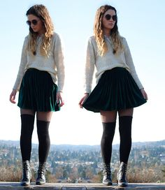 Could never pull it off, but I love it!    Michigan left (by Kate M) http://lookbook.nu/look/4367029-michigan-left.