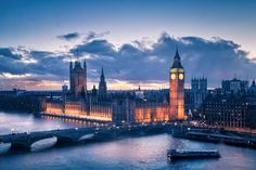 Photograph Sunset on Westminster Palace by Robin-Angelo Fuso on London Eye, Westminster, Robin, Palace, New York Skyline, Sunset, Photography, Travel, Beautiful Images