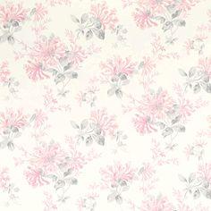 Laura Ashley Honeysuckle Trail Cyclamen Floral Wallpaper