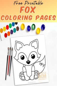Looking for a cute coloring page for your kids? This free printable baby fox coloring page is easy and fun for kids and adults alike! Use him as an outline fox template to go along with a woodland theme garland, an arctic craft design or add a baby fox to your very own animal theme coloring book! #FoxCrafts #FoxTemplate #FoxColoring #FoxColoringSheet Zoo Crafts, Farm Animal Crafts, Animal Crafts For Kids, Toddler Crafts, Crafts To Do, Fox Coloring Page, Love Coloring Pages, Coloring Books, Printable Crafts