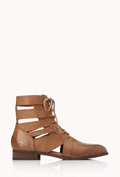 Cutout Combat Boots | FOREVER21 - 2000112053